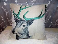 U.S. SELLER  Teal DEER Print Home Bed Decor Cushion Pillow Throw Cover Case