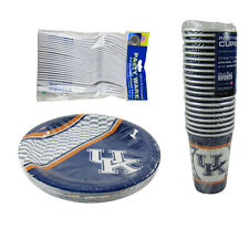 New NCAA Kentucky Wildcats 64 Paper Plates Cups Forks Party-Ware Supplies