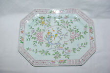 "Antique Adams Calyx Ware Singapore Bird 13.75"" Serving Platter Old Red Backstamp"