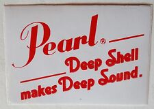 Aufkleber PEARL Shells Schlagzeug Drums Percussion 80er Sticker Autocollant