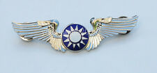 CHINESE OLD STYLE KMT KUOMINTANG WINGS BADGE SILVER-33165