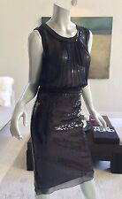 NWT DOLCE & GABBANA D&G BLACK SHEER SEQUIN COCKTAIL PARTY DRESS IT 40 US 2 - 4