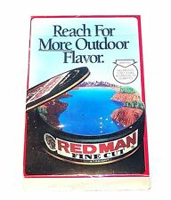 Vintage 90's Redman Red Man Chewing Tobacco Playing Cards NOS Pipe Skoal MkOffr