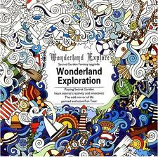 Kids Gifts Fantasy Dream Based on Alice in Wonderland Inky English Coloring Book