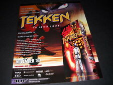TEKKEN .. survive ultimate game of death Vintage ANIME Promo Ad mint condition