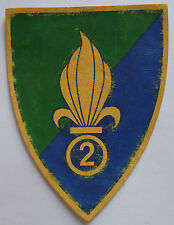 Insigne ancien patch imprimé 2° REI LEGION ETRANGERE ORIGINAL FOREIGN FFL 2