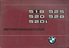 BMW E12 5er Betriebsanleitung 1977 Bedienungsanleitung 518 520 i 525 528 BA