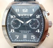 Russian WATCH Chronograph MWG AIR FORCE Movement 31679 POLJOT BOX