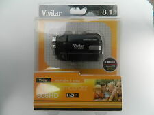 "Vivitar dvr808hd-blk DIGITAL VIDEO CAMCORDER - 8.1 MP HD 1,8 ""LCD 4x Zoom"