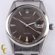 Rolex ♛ Men's Stainless Steel Oysterdate Hand-Winding Watch 6694 Brown Dial