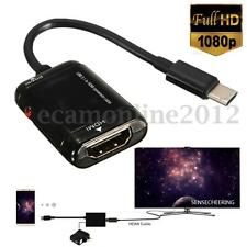 1080P MHL Type C Male to HDMI Female HD TV Monitor Adapter Converter USB 3.1