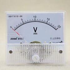 DC 0-20V Analog Volt Voltage Panel Meter Voltmeter Gauge