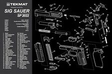 SIG SAUER SP2022 9MM PISTOL GUN CLEANING GUNSMITH BENCH LAP TOP MAT NEW TEKMAT