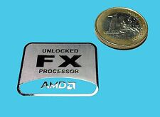 AMD FX METALISSED CHROME EFFECT STICKER LOGO AUFKLEBER 30x25mm [488]