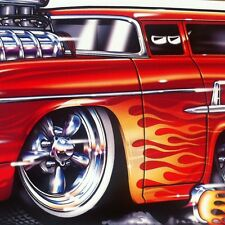 """Surfwagon"" 1955 55 Chevy Nomad New Embossed METAL ""Garage Decor"" Sign"