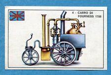 STORIA DELL'AUTOMOBILE Panini -Figurina-Sticker n. 4 -CARRO DI FOURNESS 1788-Rec