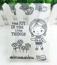 DIY Bee Silicone Rubber Clear Stamp Seal Scrapbooking Diary Christmas Card