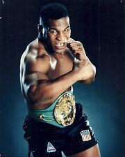 IRON MIKE TYSON THE HEAVY WEIGHT CHAMPION OF THE WORLD WITH CHAMPIONSHIP BELT