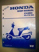 NOS OEM Honda CH80 Elite 80 Shop Manual Service Repair 1985 61GE100