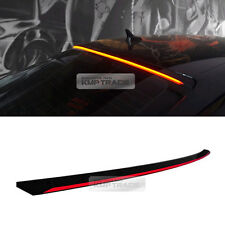 LED Rear Roof Brake Light Lamp Glass Wing Lip Spoiler for AUDI 2009-2015 A4 B8