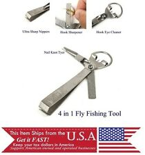 Fly Fishing Multi Tool, hook sharpener, line cutter, knot tyer, nippers,