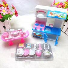 20Pcs/lot Creative Kitchenware Dinner Tables Cupboard Sink for Barbies Dolls TAU