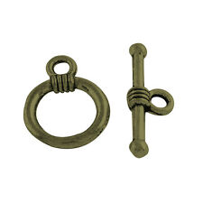 20 x Bronze Plated Toggle Clasps Ring Tbar connector terminator for jewellery