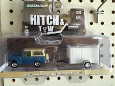 Greenlight  HITCH & TOW  1967 Ford Bronco w/ small cargo trailer