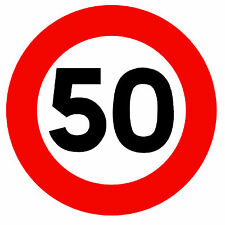 ROAD SIGNS (50 MPH SPEED LIMIT) -  NOVELTY FRIDGE MAGNET - BRAND NEW