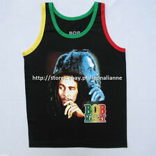 LOWEST PRICE! BOB MARLEY BACK-TO-BACK FACE RASTA PRINT TANK TOP  - MEDIUM BNEW!