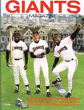 1986 San Francisco Giants Magazine MLB Baseball Volume 1 #3 PROGRAM