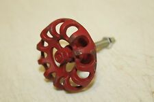 ONE NEW Metal Faucet Valve Handle Cabinet Door Drawer Knob Steampunk Red