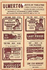 "ELVIS PRESLEY DRIVE-IN THEATRE UPCOMING ATTRACTIONS HANDOUT ""LOVING YOU"" ++"