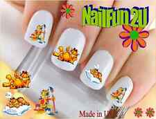 "RTG Set#549 CHARACTER ""Garfield Paint"" WaterSlide Decals Nail Art Transfers"