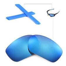 New Walleva Polarized Ice Blue Lenses And Blue Earsocks For Oakley Jawbone