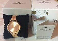 OLIVIA BURTON  GOLD BIG DIAL LADIES WATCH NEW