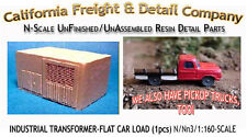 INDUSTRIAL TRANSFORMER-FLAT CAR LOAD 1pc N/1:160-CAL Freight & Details Co nnbPR7