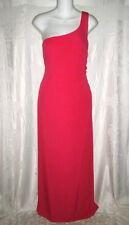GIORGIO ARMANI COLLEZIONI Red Draped Gown 44 6 $2K One Shoulder Dress