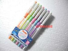 Pentel Luminous Sweet Colors Hybrid Gel Grip 0.8mm Rollerball Pen 7 Colors Set