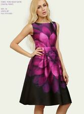 Digital Flower Print Pink and Black Western Dress For Girl Women Sevenfold