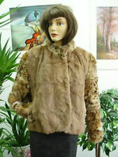 BRAND NEW SQUIRREL & MONTANA LYNX FUR JACKET COAT WOMEN WOMAN SIZE 10-12 MEDIUM