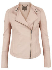 Muubaa Women's Kaus Nude Fitted Leather Biker Jacket. RRP £389. UK 10. M0374.
