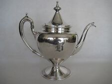 "RARE OLD ANTIQUE REED & BARTON SILVER PLATED 3720 6 TEAPOT, ""B"", 9 1/3"" TALL"