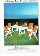 PUBLICITE ADVERTISING 0217  1978  salon de jardin Patio par Grosfillex