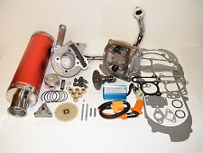 100cc Big Bore Kit Power Pack  Red Exhaust Gy6 50cc QMB139 Chinese Scooter Parts