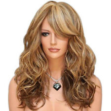 Women Long Hair Full Wigs Ombre Brown Blonde Ginger Mix Highlight Cosplay Hair R