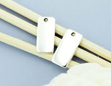 925 Sterling Silver 4  Rectangle Blank Charms 6x12.5mm.