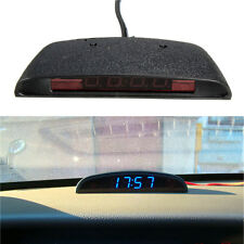 12V LED 3in1 Car Digital Electronic Clock Temperature Thermometer Voltmeter Plug