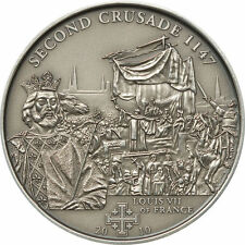Cook Islands 5$ 2010 2nd Crusade LOUIS VII OF FRANCE  Silver Coin