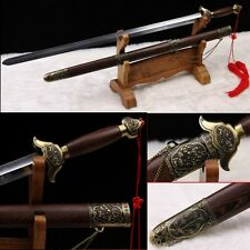 "Stainless Steel Hand Forge Chinese Sword ""Tai chi JIAN ""(劍) Good Elasticity-0227"